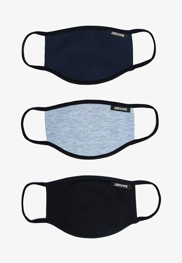 3 PACK ADULTS FACE MASK SET  - Community mask - navy/grey/black