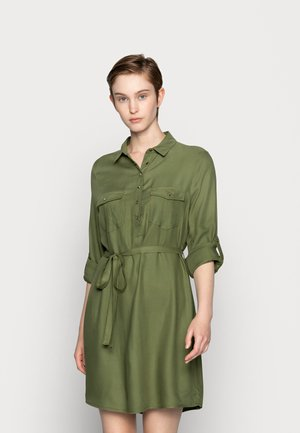 TAMMY LONG SLEEVE DRESS - Shirt dress - khaki