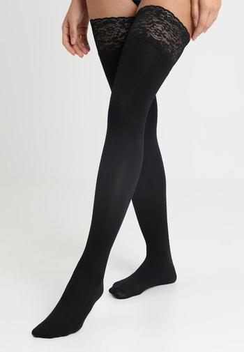 FANCY RIBBON - Over-the-knee socks - black