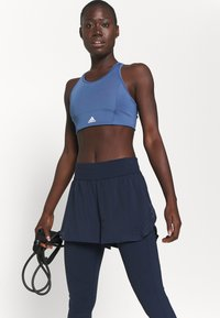 Sweaty Betty - POWER DOUBLE UP WORK OUT LEGGINGS - Tights - navy blue - 3