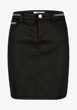 WET EFFECT - Mini skirt - black
