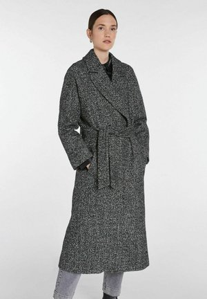 Classic coat - black offwhite