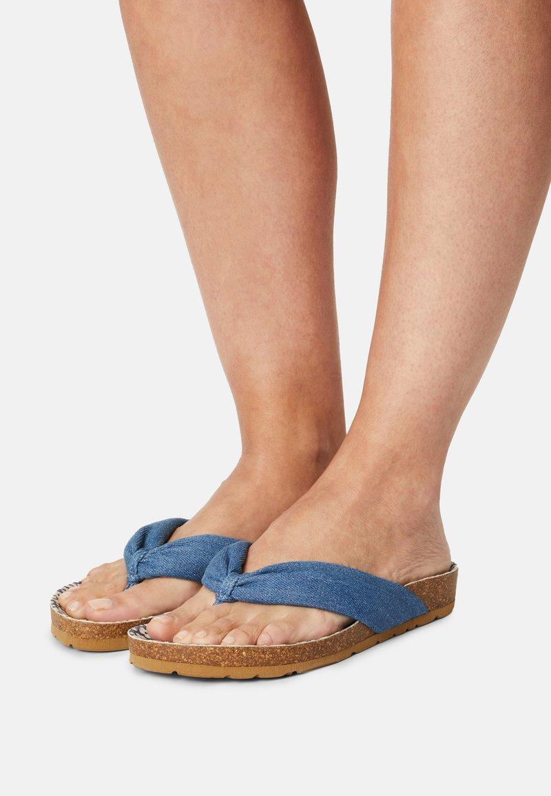 Pepe Jeans - OBAN TUBULAR - Sandály s odděleným palcem - azzurro