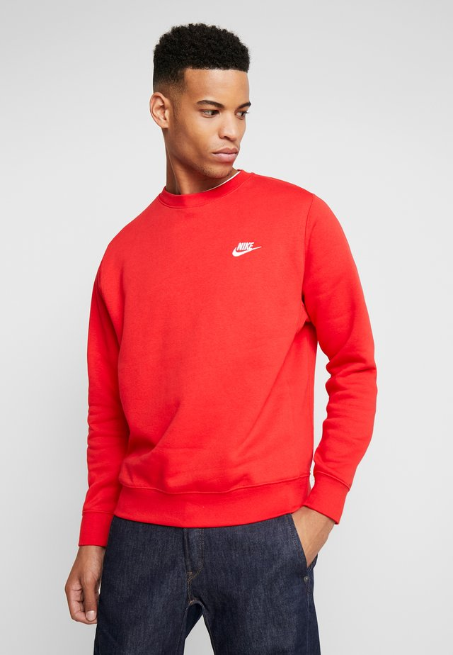 CLUB - Sweatshirt - university red/white