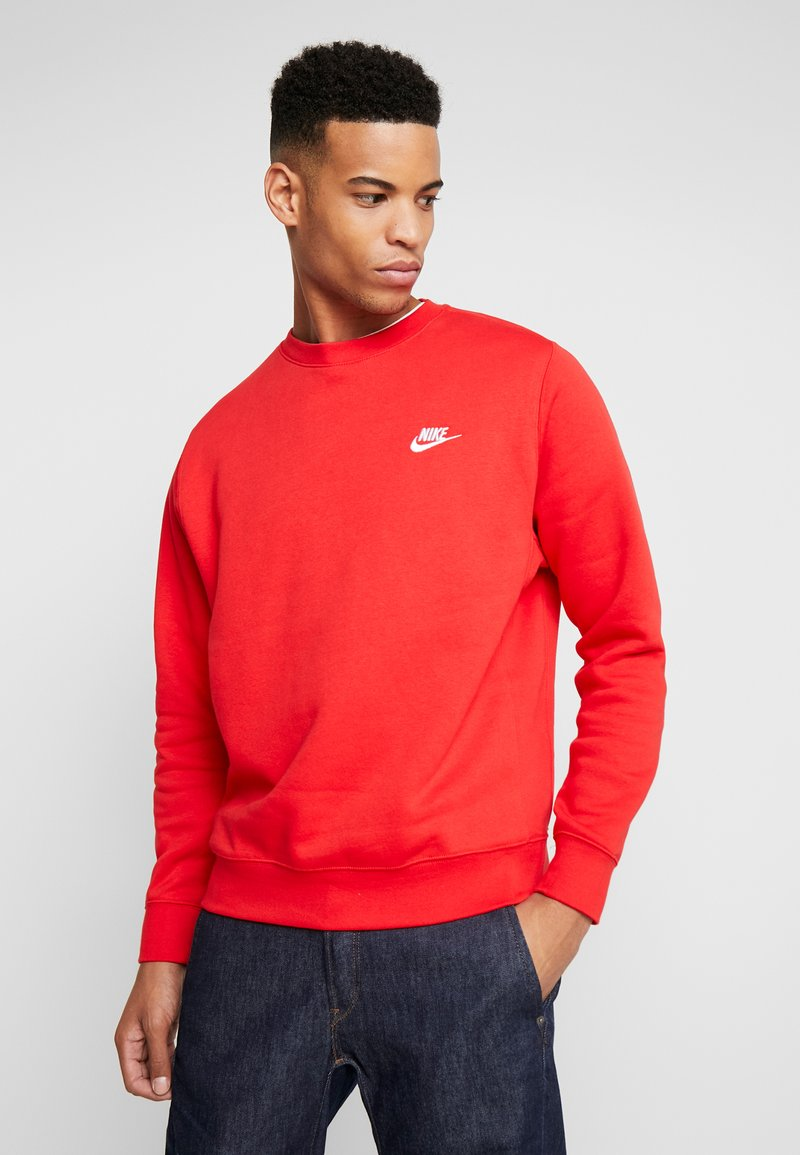 Nike Sportswear - CLUB - Sweatshirt - university red/white