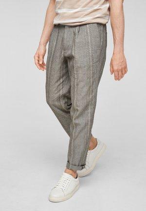 Pantalon classique - beige check