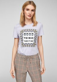 s.Oliver - MIT FOTOPRINT COLLAGE - T-shirt print - lilac good things print - 0