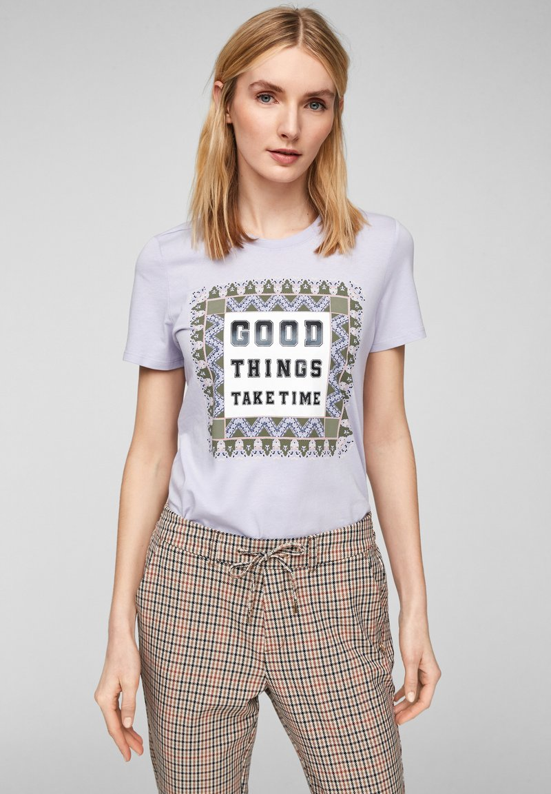 s.Oliver - MIT FOTOPRINT COLLAGE - T-shirt print - lilac good things print