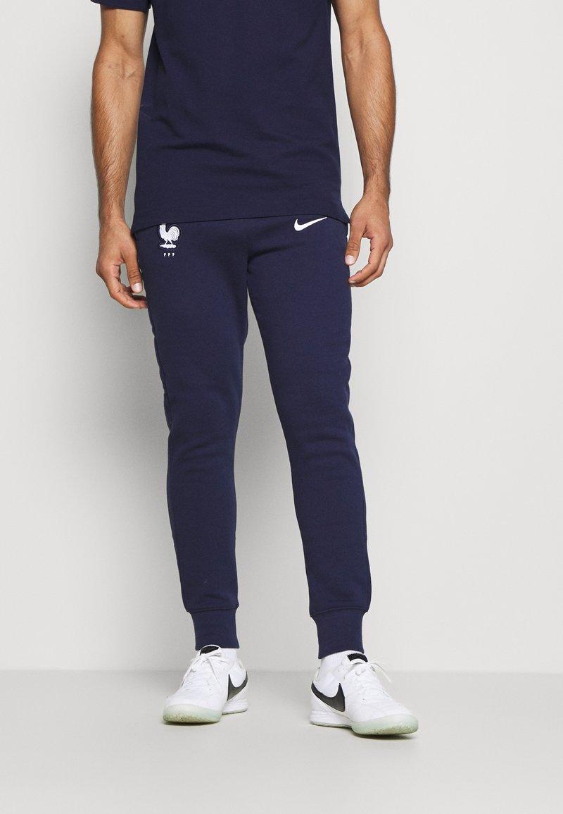 Nike Performance - FRANKREICH FFF PANT - National team wear - blackened blue/white