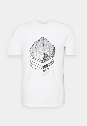 MOUNTAIN - T-shirt med print - bright white