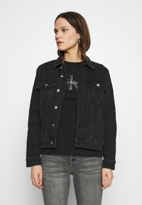 Calvin Klein Jeans - REGULAR - Cowboyjakker - denim black - 0