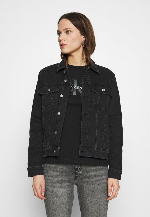 REGULAR - Denim jacket - denim black