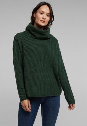 MIT KASCHMIR - Hoodie - dark green