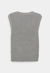 Selected Femme - SLFTAY VEST O-NECK - Jumper - light grey melange - 1