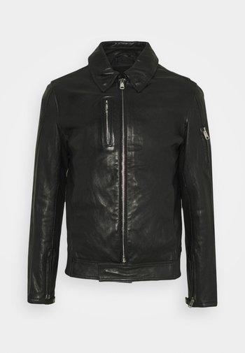 KALEB JACKET - Leather jacket - black