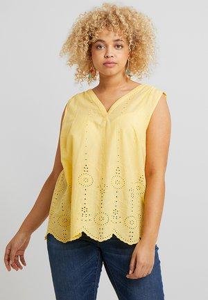BLOUSE WITH EMBROIDERY - Blouse - daylily yellow