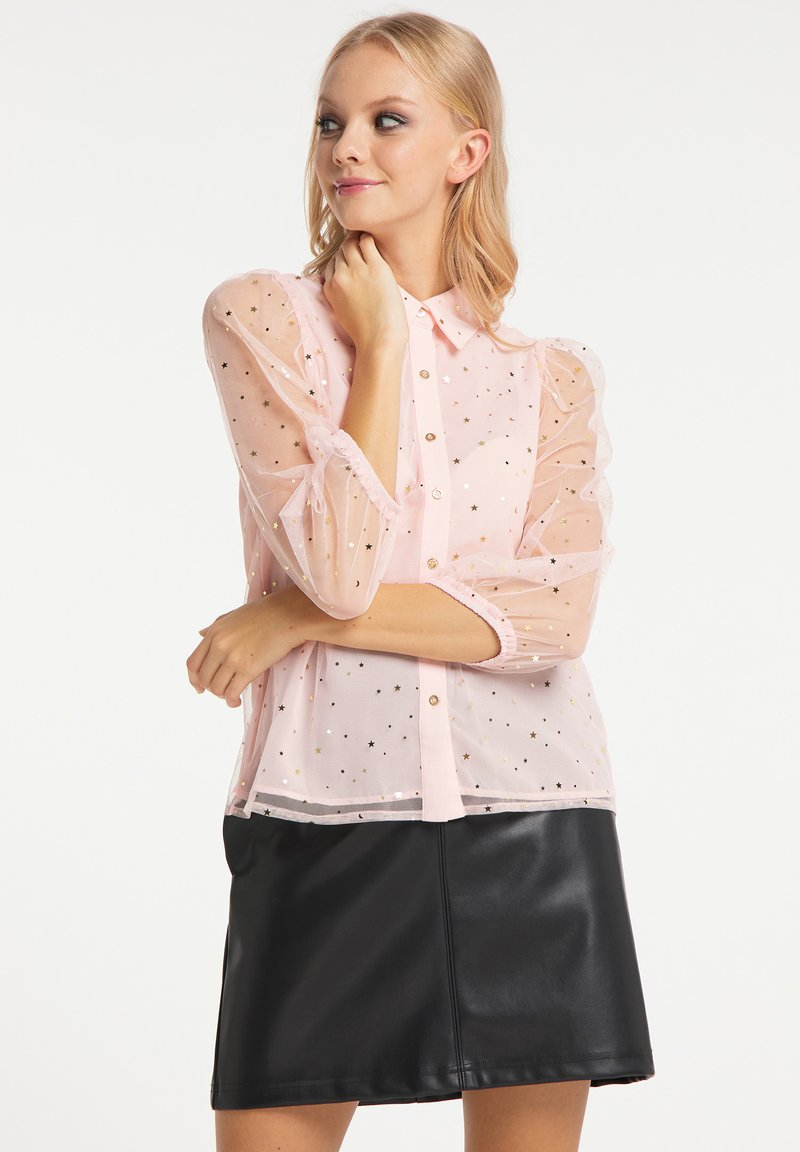 myMo at night - Button-down blouse - rosa