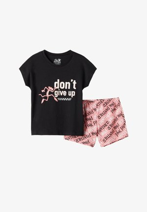 PINK PANTER - Pyjama set - nero st.don't give up