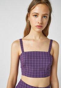 PULL&BEAR - Blouse - dark purple - 3