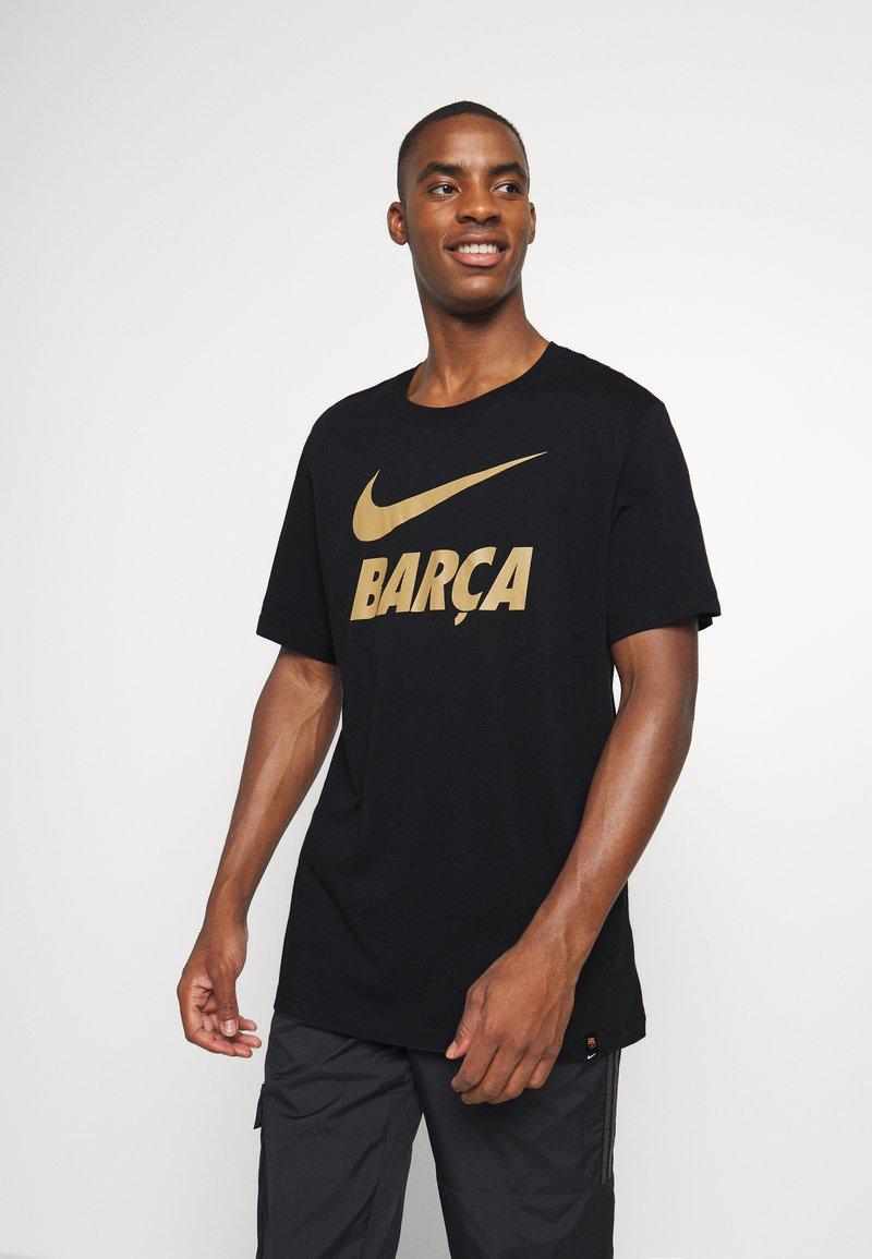 Nike Performance - FC BARCELONA TEE GROUND - Camiseta de deporte - black