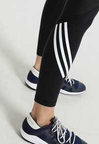 adidas Performance - SPORT HIGH WAIST LEGGINGS - Legging - black/white - 3