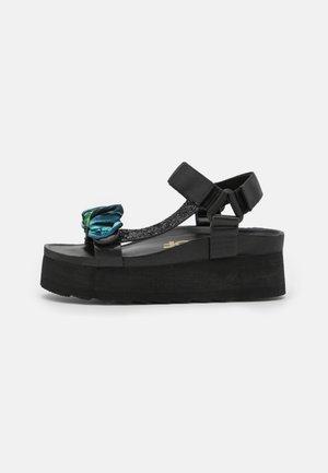 BES WITH FOULARD ACCESSORY - Sandály na platformě - black