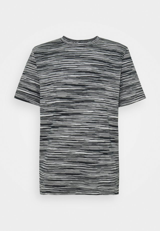 SHORT SLEEVE - T-shirt z nadrukiem - bianco/nero