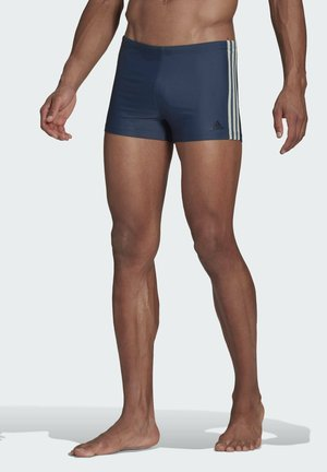 3-STRIPES SWIM BOXERS - Swimming trunks - blue