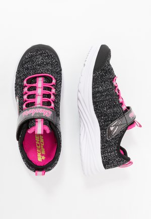 DREAMY DANCER - Sneaker low - black sparkle/neon pink