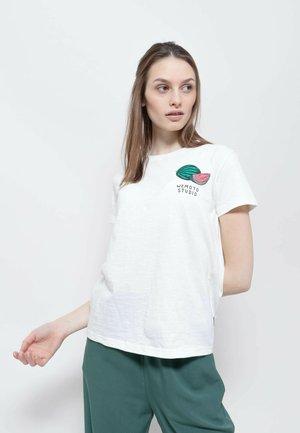 FRUIT - Print T-shirt - off white