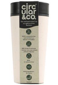 Circular&Co - CIRCULAR & CO KAFFEEBECHER TO GO MIT DECKEL - 340ml - Trinkflasche - Autres accessoires - weiß / schwarz - 6