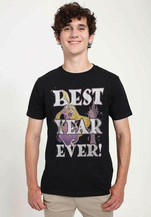 DISNEY UNISEX RAPUNZEL BEST YEAR - T-shirt imprimé - black