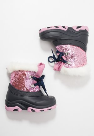 Winter boots - dark blue/rose