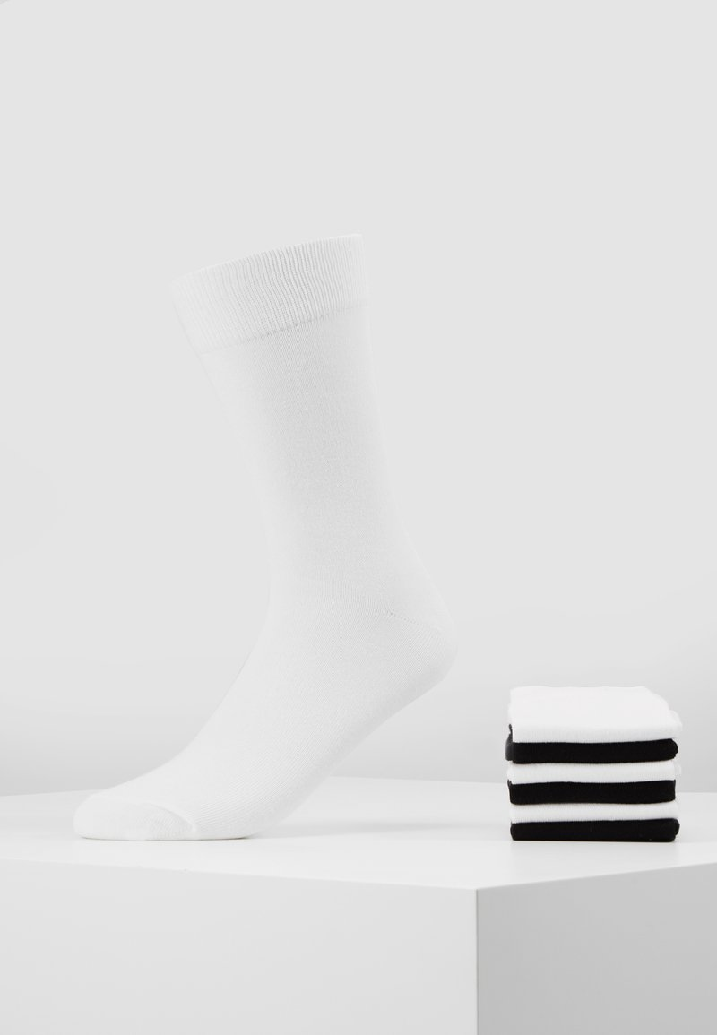 Pier One - 7 PACK - Sokken - white/black