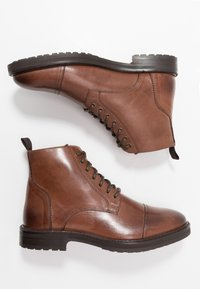 Topman - ORBIS HERITAGE BOOT - Lace-up ankle boots - brown - 1