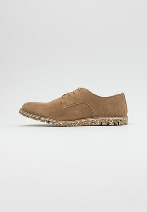 DAVID - Casual lace-ups - sand