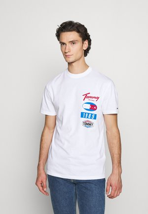 PRINTED PATCHES LOGO TEE - T-shirt con stampa - white