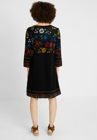 Ivko - DRESS FLORAL PATTERN - Jumper dress - black - 2