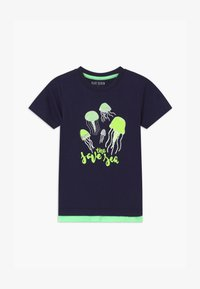 Blue Seven - SMALL BOYS JELLYFISH - Print T-shirt - nachtblau - 0