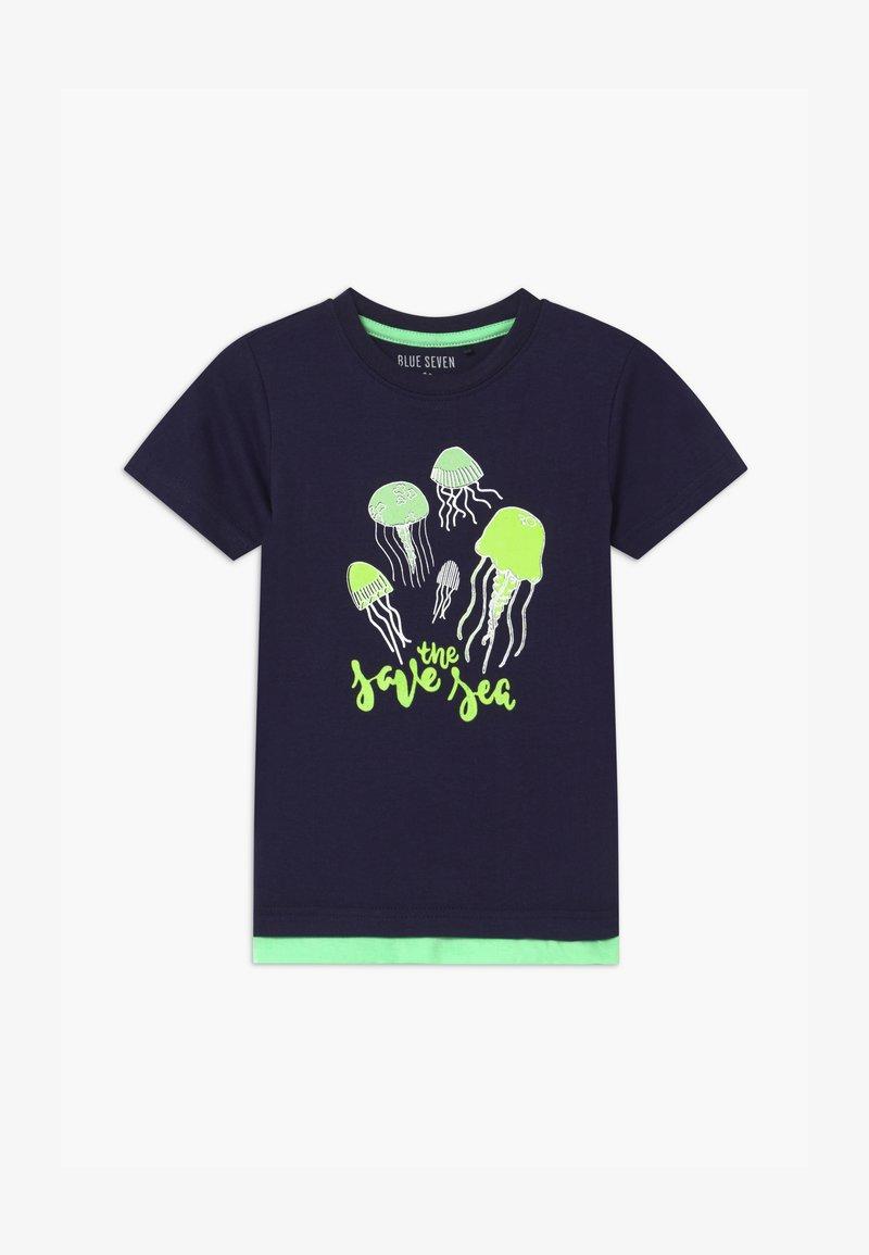 Blue Seven - SMALL BOYS JELLYFISH - Print T-shirt - nachtblau