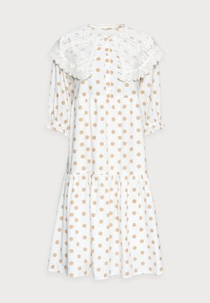 DOTTA DRESS - Shirt dress - white