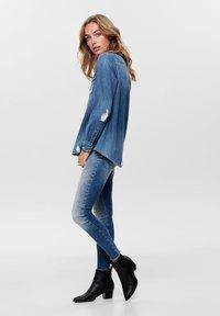ONLY - Button-down blouse - dark blue denim - 1