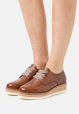 LACE UP - Lace-ups - cognac