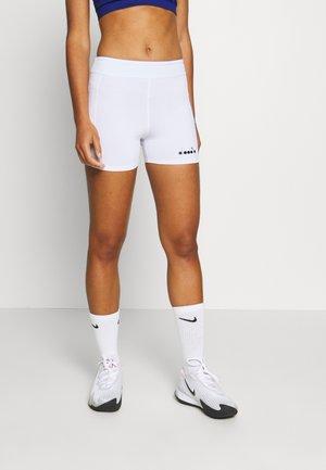 SHORT POCKET - Leggings - optical white
