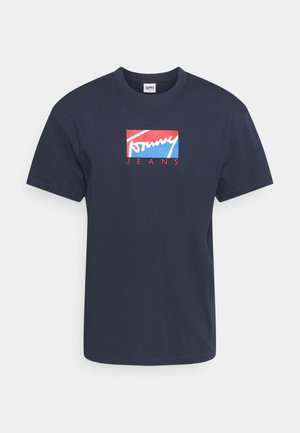 TJM BLOCK GRAPHIC TEE - T-Shirt print - twilight navy