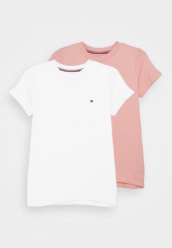 2 PACK  - Pyjama top - rose tan/white