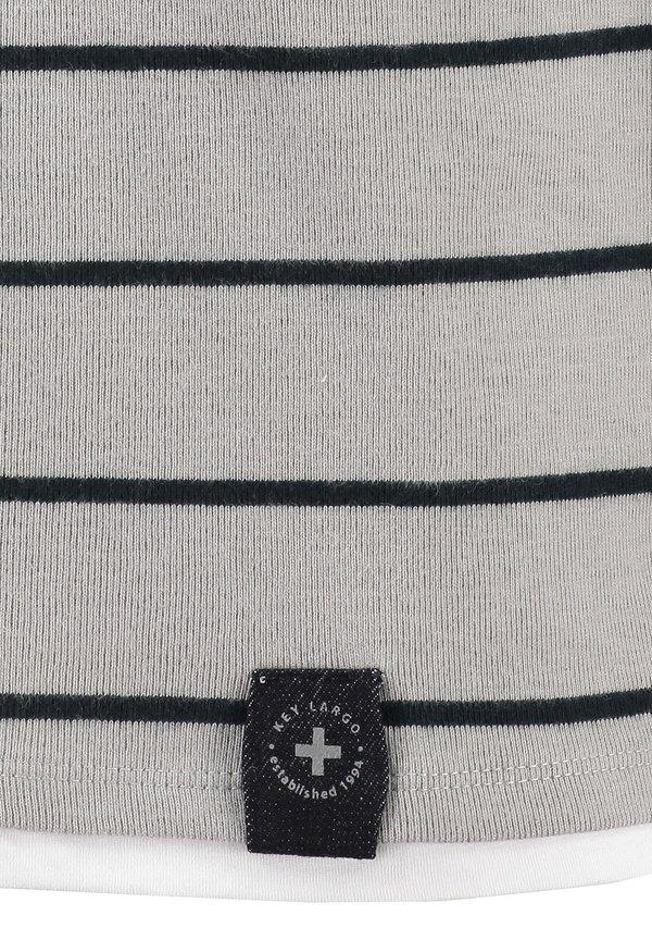 Key Largo ORLANDO ROUND - Sweter - silver/szary Odzież Męska MBGR