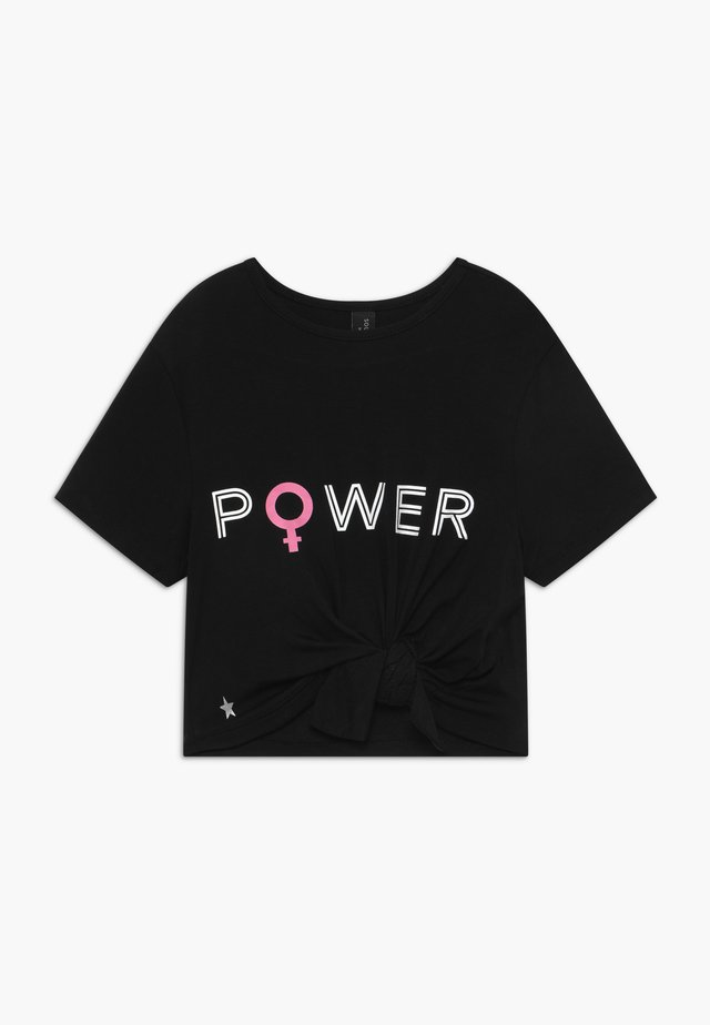 GIRLS POWER KNOT - T-shirt print - black
