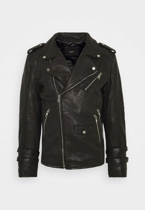 BEJACE - Leather jacket - black