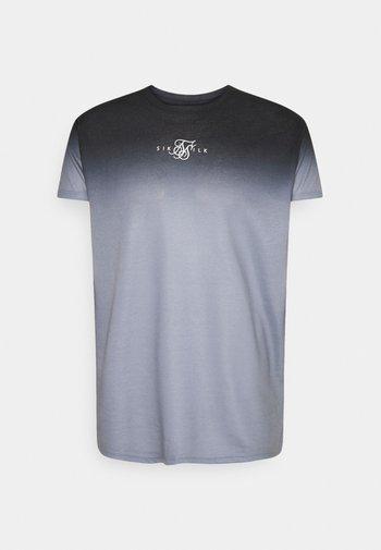 HIGHFADE BOX TEE - Print T-shirt - black/white